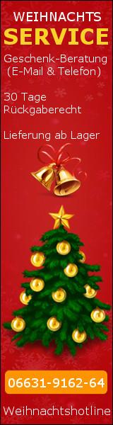 Weihnachtsaktion Hotline 30 Tage R�ckgabe